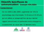 objectifs sp cifiques de communication exemple vih sida1
