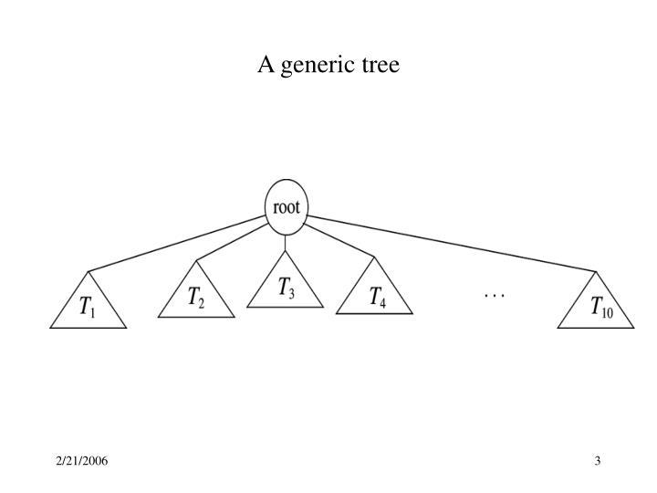 A generic tree