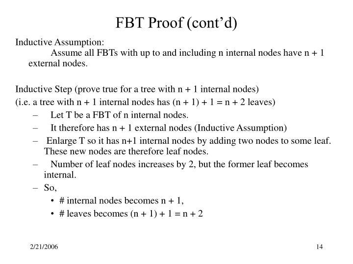 FBT Proof (cont'd)