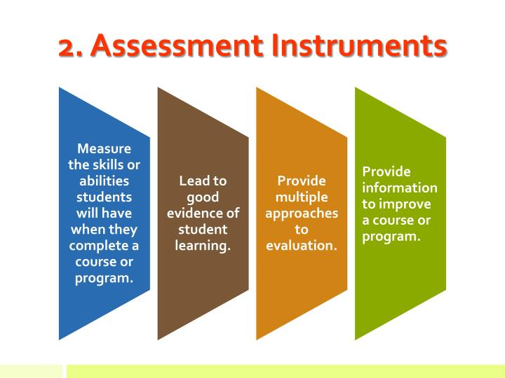 2. Assessment Instruments