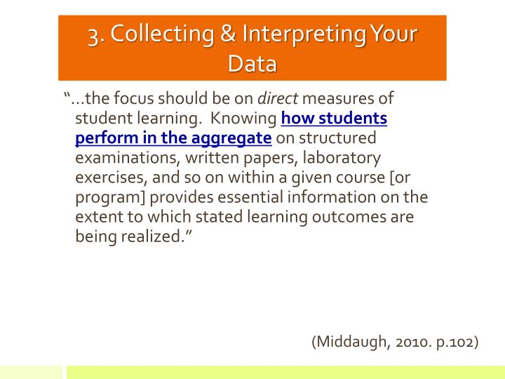 3. Collecting & Interpreting Your Data
