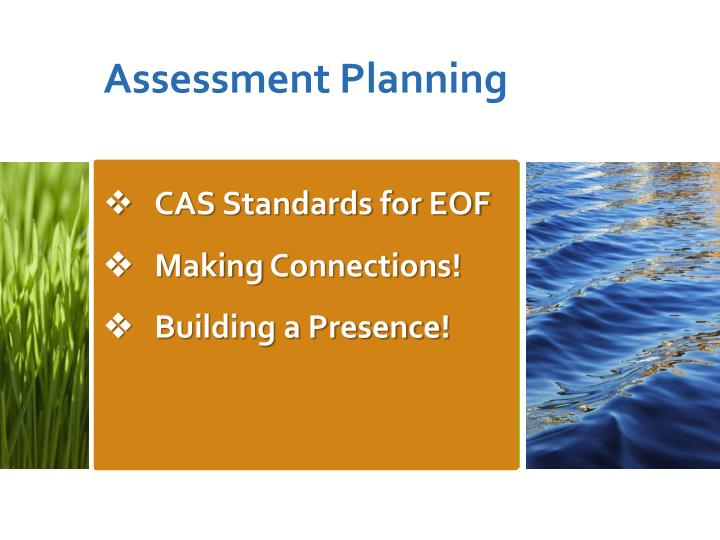 Cas standards for eof making connections building a presence