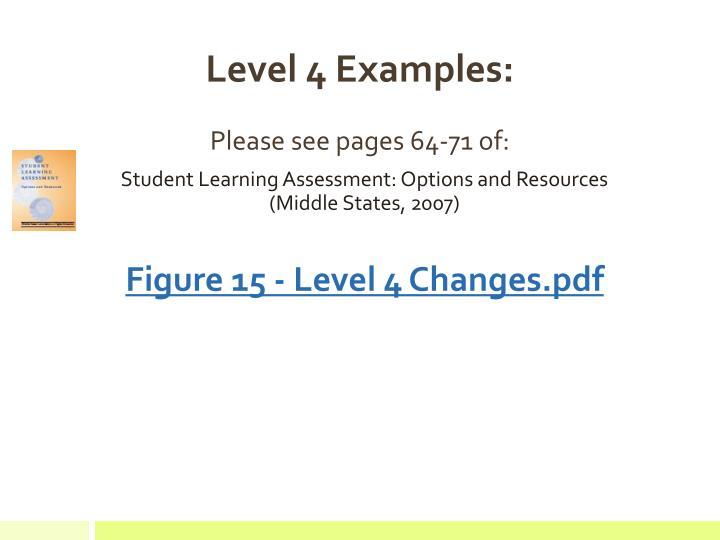 Level 4 Examples: