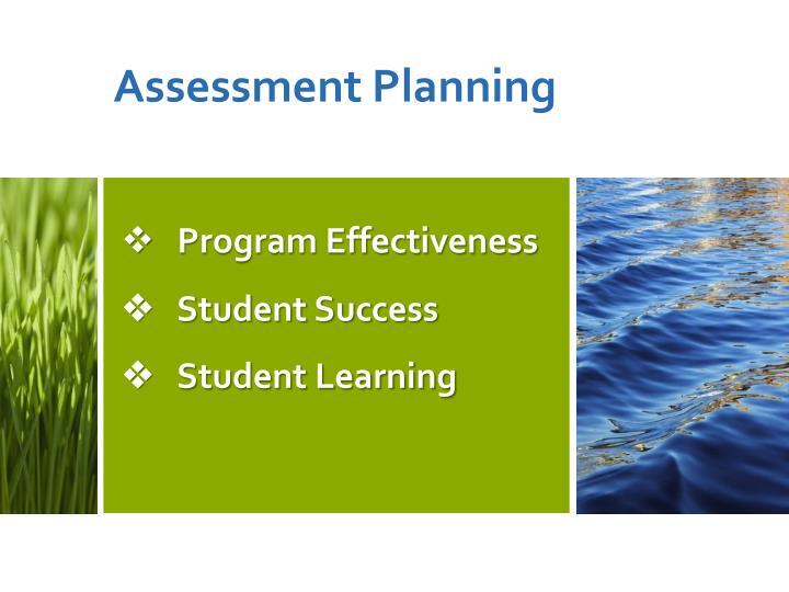 Program effectiveness student success student learning