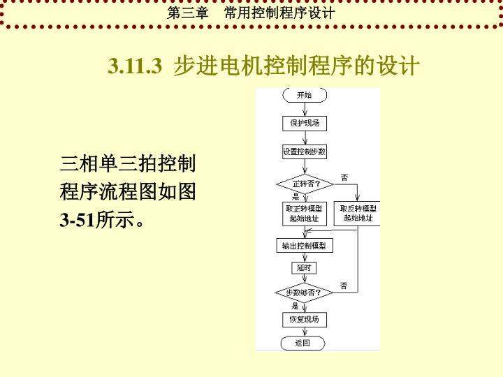 3.11.3  步进电机控制程序的设计
