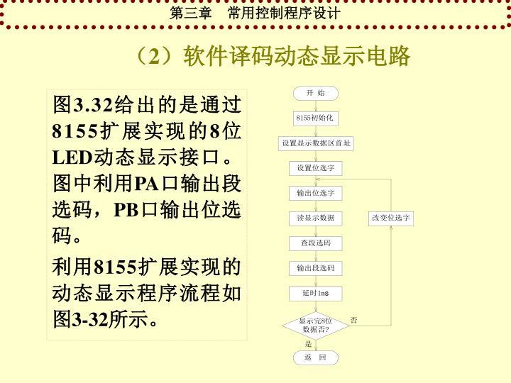 (2)软件译码动态显示电路