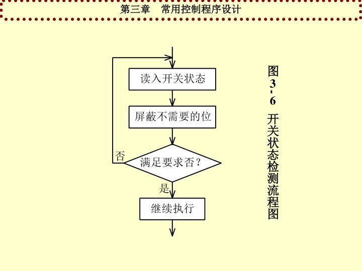 图3-6  开关状态检测流程图