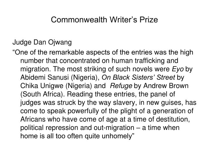 Commonwealth writer s prize