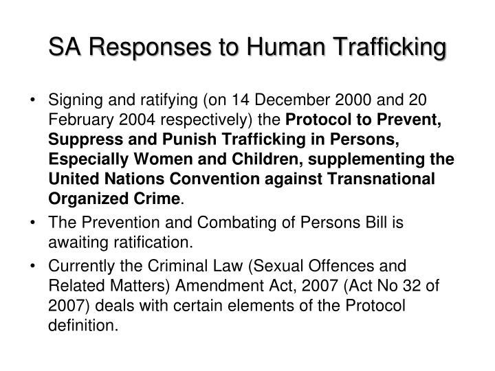 SA Responses to Human Trafficking