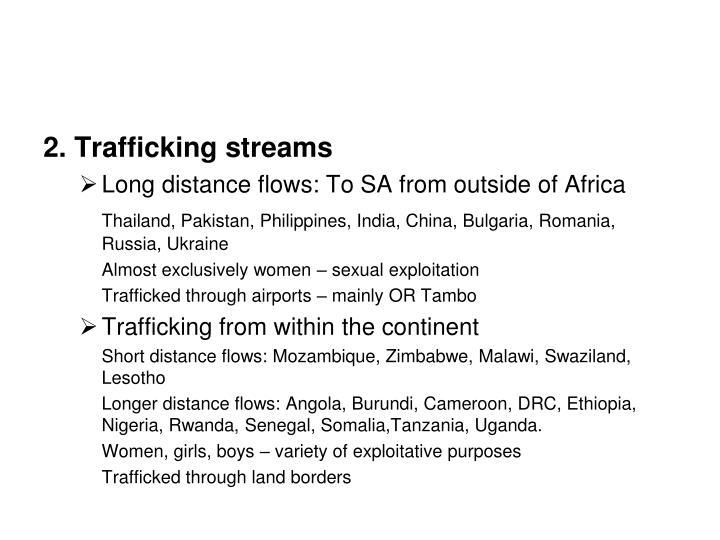 2. Trafficking streams