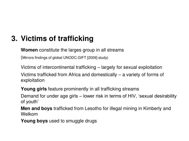 Victims of trafficking