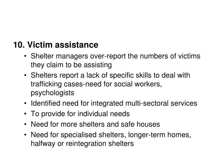 10. Victim assistance