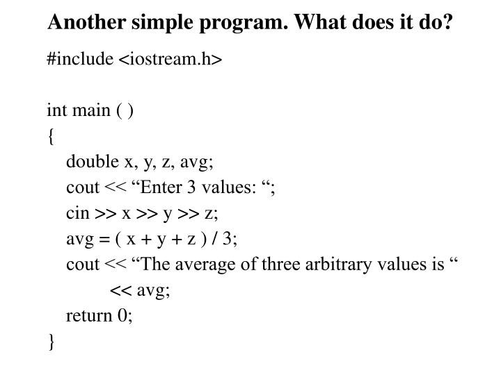 Another simple program. What does it do?