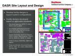 dasr site layout and design