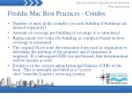 freddie mac best practices condos