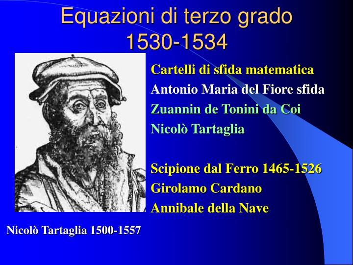 Equazioni di terzo grado 1530-1534