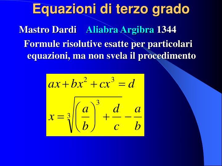 Equazioni di terzo grado