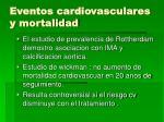 eventos cardiovasculares y mortalidad