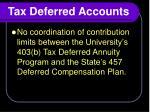 tax deferred accounts1