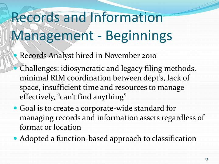 Records and Information Management - Beginnings