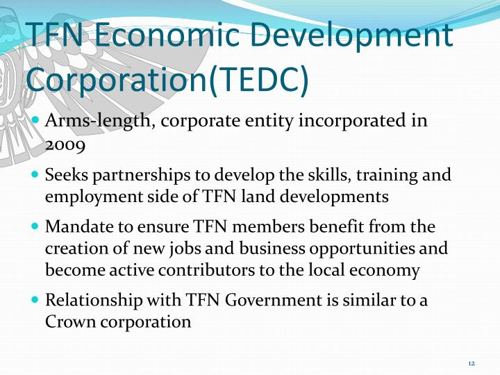 TFN Economic Development Corporation(TEDC)