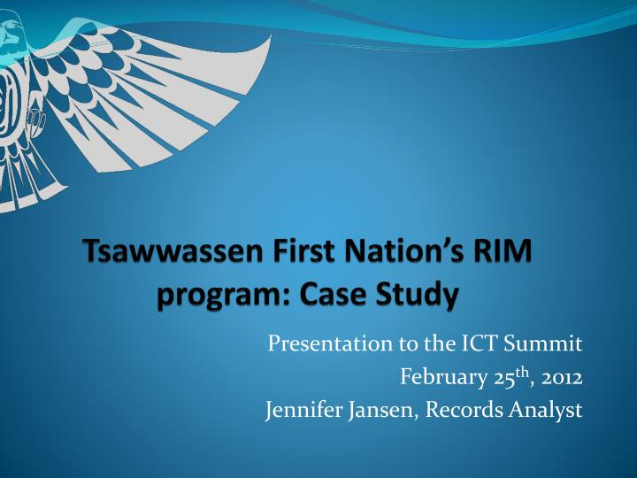 Tsawwassen first nation s rim program case study