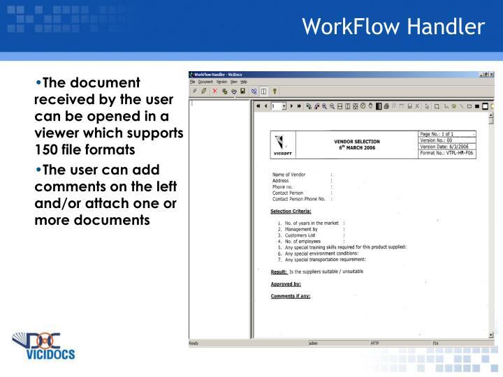 WorkFlow Handler