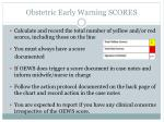 obstetric early warning scores