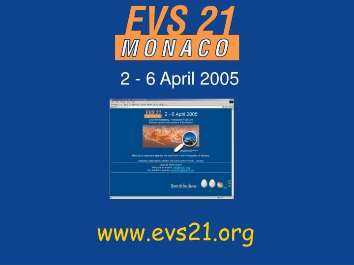 2 - 6 April 2005