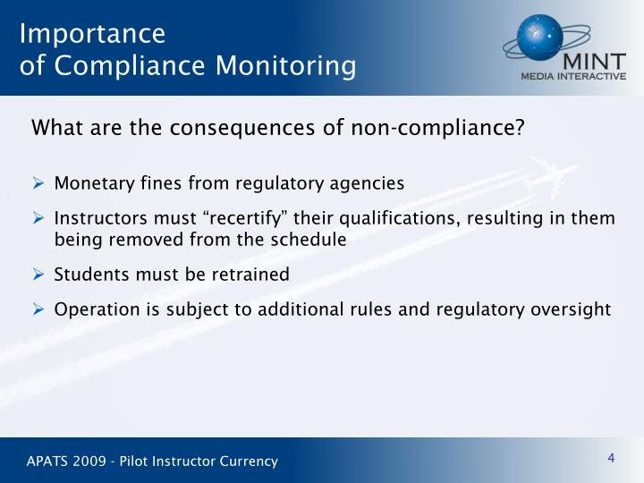 What are the consequences of non-compliance?