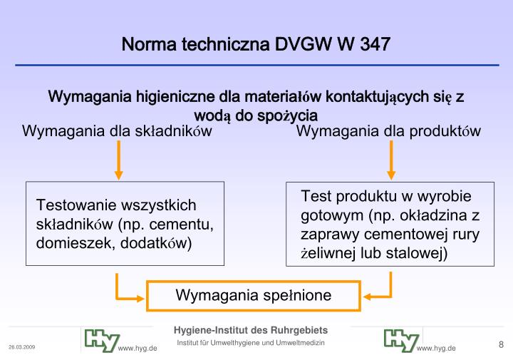 Norma techniczna DVGW W 347