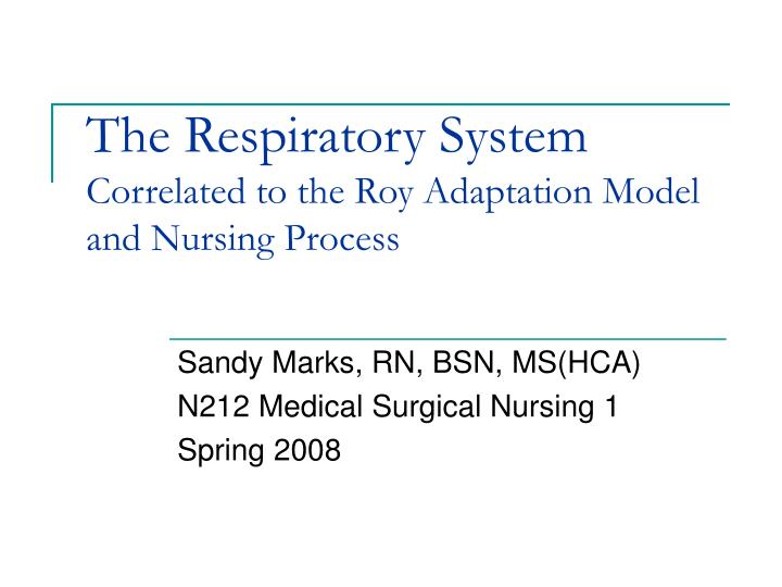 the roy adaptation model Roy adaptation model: theory description 03/18/2013 sister callista roy's adaptation model (ram) is representative of a grand nursing theory whose conceptual framework is focused on the interconnected, holistic.