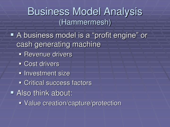 Business model analysis hammermesh
