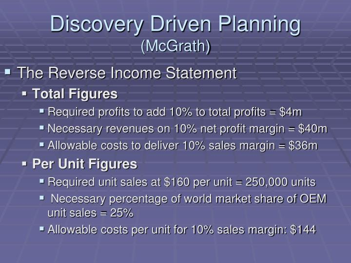 Discovery Driven Planning