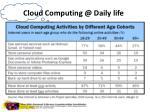 cloud computing @ daily life
