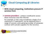cloud computing @ libraries