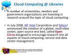 cloud computing @ libraries2