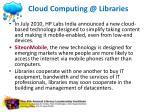 cloud computing @ libraries3