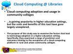 cloud computing @ libraries5
