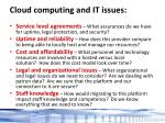 cloud computing and it issues