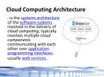 cloud computing architecture
