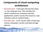 components of cloud computing architecture