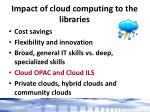 impact of cloud computing to the libraries