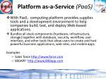 platform as a service paas