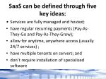 saas can be defined through five key ideas