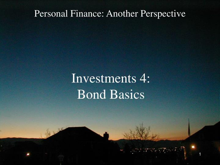 investments 4 bond basics n.