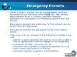 emergency permits