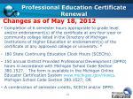 professional education certificate renewal
