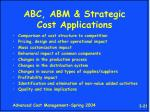 abc abm strategic cost applications