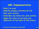 abc implementation